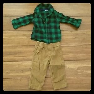 Carters set top and pants